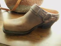 These are FRYE HARNESS CLOG/MULES that are new/never