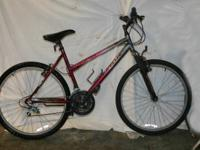 "Extremely clean FS ELITE 26"" magenta mt. bike ....21"