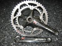 This crankset is a 53/39 in nice condition, with some