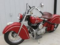 1947 Indian Chief Complete comprehensive restoration.