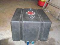 10 gal fuel cell w/sending unit and fittings , good