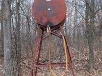 300 Gallon fuel/gas barrel with stand $250.00  //