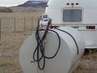 1000 gallon skid fuel tank with pump  Location: