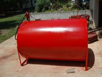 550 gal tank new paint redone hand fill-rite pump  //