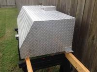 60 gal aux fuel tank that is 18 1/2 tall, 53 1/4 long,
