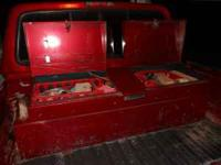 FOR SALE IS A USED FUEL TANK TOOL BOX COMBO, 45 GALLON