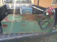 I have a fuel transfer tank with a hand pump for sale