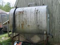 For sale is a free standing fuel (gas) tank. Approx 250