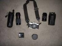 Fujica 35mm Camera and Accessories. Extra 135mm lens