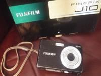 8.2 megapixel Fujifilm Fine Pix J10 digital camera with