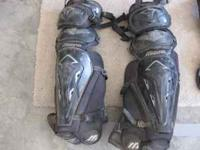 Full catcher suit with shin savers. Text  Location: