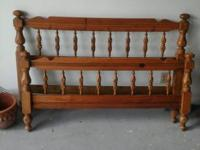 Solid wooden head board, and foot board, good