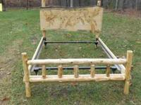 THIS IS A FULL SIZE LOG BED , IT HAS A METAL FRAME BOX