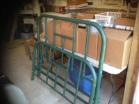 Full size metal headboard and footboard with slats and