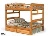New Solid Pine Full Captains Bed With Storage For Sale In
