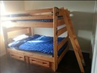 Full bunk beds can also be used separately ladder