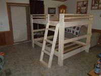 "Full over Full Bunk Bed made with 2"" X 6"" Frame and"