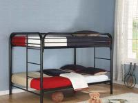These metal bunk beds are designed to hold up against