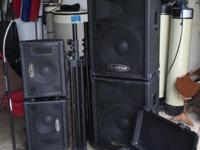 Full PA System great for starter bands This ad was