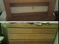 Full/queen headboard and dresser for sale. Both from