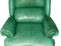Full Leather on all sides of chair and ottoman  Color