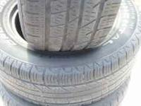 FULL SET OF 285-60-18 CONTINENTAL USED TIRES FOR JUST