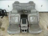 This is a full set of gray leather dual power seats out
