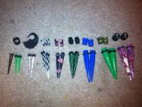 This is a set of Gauges, Tapers and Plugs. It starts at