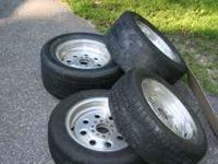 full set of aluminum rims and tires, very