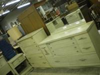 This is a beautiful full size white bedroom set. It