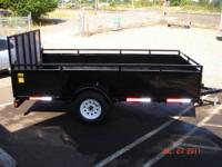 Full size 6 x 12 garden trailer for sale or rent. Empty