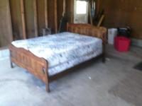 Full size bed complete. Includes headboard, footboard,