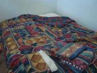 FULL SIZE BED IN A BAG GOOD CONDITION SHEET SET, SHAMS,