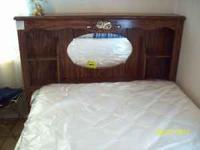 FULL SIZE BED WITH BRAND NEW MATTRESS AND BOX SPRING