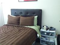 Full size bed plus headboard. I'm moving out my