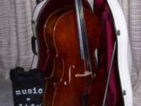 Full size cello, Frank Denti, Hand Made in the workshop
