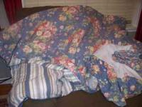 full size comforter with bedskirt and pillow case