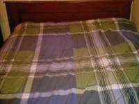 full size comforter, with sheets, 1 pillow case $15