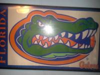 "59""L - 34""H Framed Gator flag. Awesome Condition!"