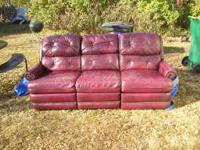 I have 2 leather couches for sale. 1) Full size, Off
