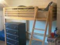 This is a full size loft bed that i used for a year in