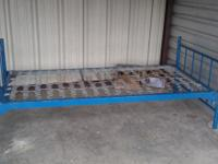 Selling this matel bed frame. This is a twin size bed