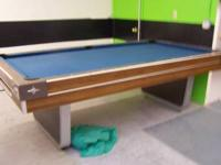 "ONE ""HALEX"" POOL TABLE FOR SALE. NO TEARS, BUT A FEW"