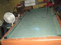 fullsize pool table .in good shape .dont use so need it