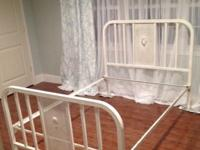 FULL Size VINTAGE Metal Iron Bed with Side Rails -$300