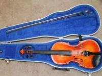 Erich Pfretzschner 4/4 violin, handmade, 1988 copy of