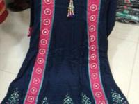 Beautiful colors and embroidery suits available for