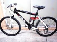 "FULL SUSPENSION MOUNTAIN BIKE, 26"", ALUMINUM, ""GENEIS V"