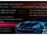 SHADETREE MECHANIC'S  We have Low , Low rates, and