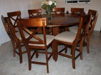 Full wood dining set - counter heightPrice includes